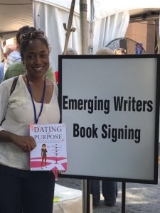 Tia Truthteller at Emerging Writers Pavilion of AJC Decatur Book Festival