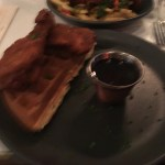 Chicken & Waffles with Maple Syrup - Dirty Bones Soho