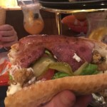 Oyster & Bacon Po' Boy - can you see the oysters!? - Plaquemine Lock Islington