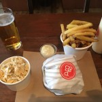 My whole order - good looking fries & coleslaw! - Patty & Bun