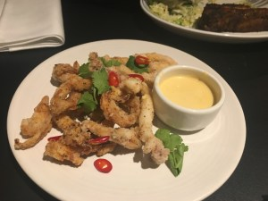 Deep Fried Calamari with devilled mayonnaise - Foxlow Soho Review