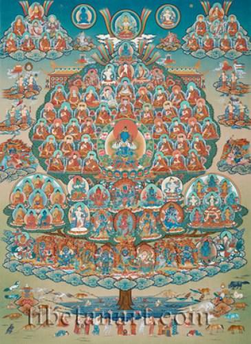 Karma Kagyu Refuge Tree Giclee Print by Dorje Tamang