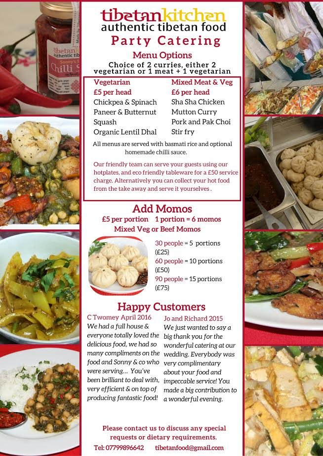 part catering webpage