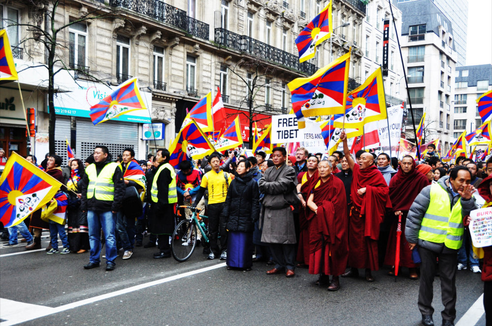 ... 10 March 2013. (Photo courtesy: http://europe-stands-with-tibet.org