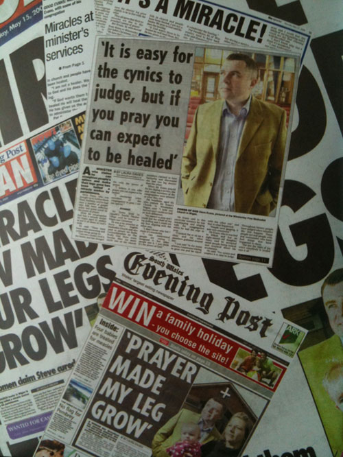 Miracles make in into the papers