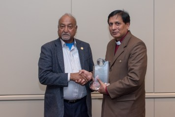 Bishop Yousaf Nadeem presented with Claas Award for 2017 from Mr. M. A. Joseph Francis MBE