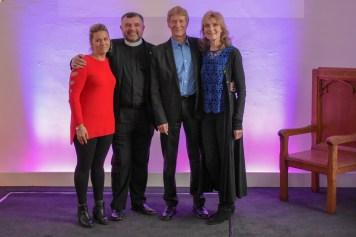 Paul and Fiona Jones with Bishop Steven Lyn Evans and Pastor Mikah Evans