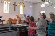 John Gaughan leading worship at a TICCN Church