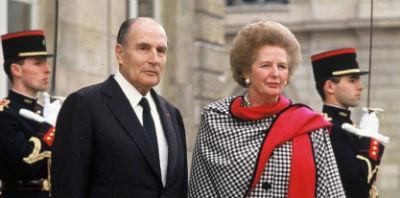 Mitterrand Thatcher