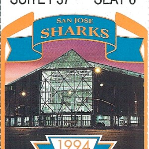 1994 NHL Playoffs Game 3 ticket stub Red Wings Sharks for sale