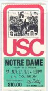 Notre Dame at USC 1976