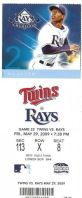 Twins at Rays 2009