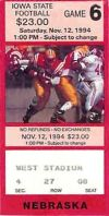 Nebraska at Iowa State 1994