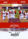 2010 Gwinnett Braves Opening Day ticket stub vs Charlotte