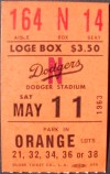 Giants at Dodgers 1963 Koufax No hitter!