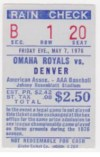 MILB 1976: Denver Bears at Omaha Royals