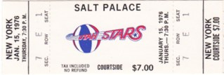 1976 ABA Nets at Stars at Salt Palace stub