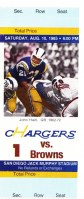 1985 Browns at Chargers