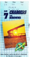 1987 Browns at Chargers