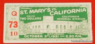 1931 NCAAF St. Mary's at Stanford stub