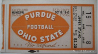 1943 NCAAF Ohio State vs Purdue at Cleveland