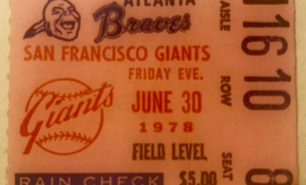 1978 Willie McCovey 500th Home Run ticket stub