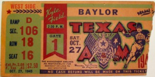 1945 Baylor at Texas A and M