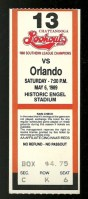 1989 Chattanooga Lookouts ticket stub vs Orlando