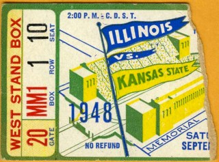 1948 NCAAF Kansas State at Illinois  stub