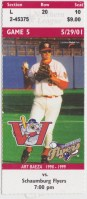 2001 Northern League Flyers at Goldeyes