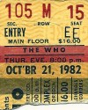 The Who – October 21, 1982