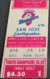 1978 NASL Earthquakes at Stompers
