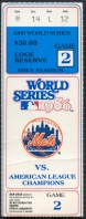 1986 World Series Game 2 ticket stub Red Sox at Mets