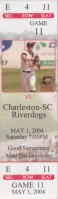 2004 Capital City Bombers ticket stub vs Riverdogs