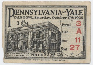 1925 NCAAF Pennsylvania at Yale