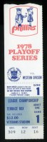 1978 NLCS Game 1 ticket stub Dodgers at Phillies