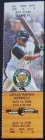 2009 Kane County Cougars ticket stub vs Cedar Rapids