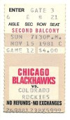 1981 Rockies at Blackhawks