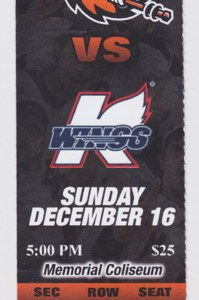 2012 ECHL Fort Wayne Komets ticket stub vs Kalamazoo for sale