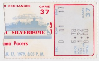 1979 Indiana Pacers at Detroit Pistons stub