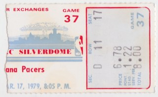 1979 Detroit Pistons ticket stub vs Pacers