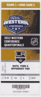 2012 Los Angeles Kings playoffs ticket vs Vancouver