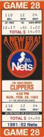 1981 New Jersey Nets v San Diego Clippers