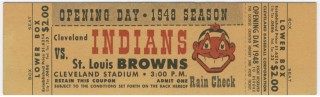 1948 St. Louis Browns at Cleveland Indians Opening Day