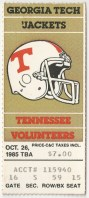 1985 NCAAF Georgia Tech at Tennessee Student