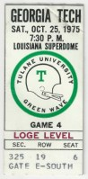 1975 NCAAF Georgia Tech at Tulane Superdome