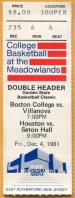 1981 NCAAMB at Meadowlands
