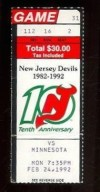 1992 NHL North Stars at Devils