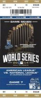 2014 World Series Game 7 ticket Giants at Royals