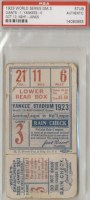 1923 World Series Game 3 Ticket Stub Giants at Yankees